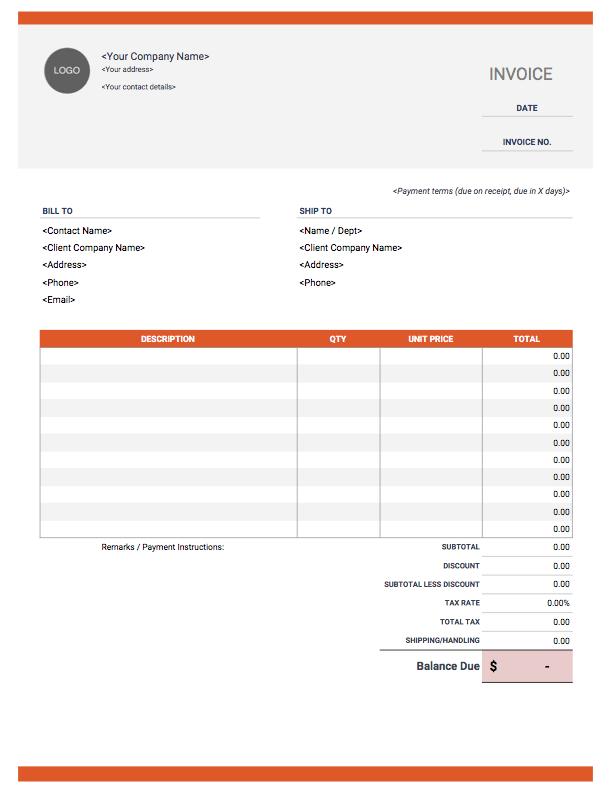 Invoice Templates Download Customize Send Invoice Simple