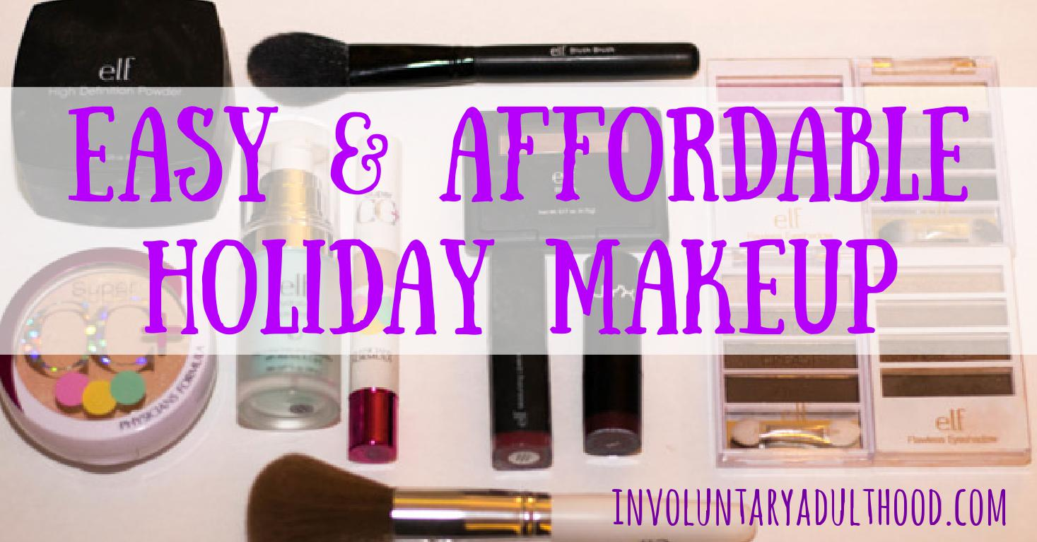 Easy & Affordable Holiday Makeup