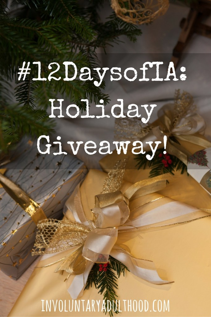 Happy December, friends! Welcome to the first day of #12DaysofIA! Read on for more information about #12DaysofIA and our special giveaway!