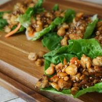 Vegetarian Lettuce Wraps with Honey Garlic Glaze
