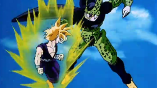 In what episode does gohan fight cell? [Dragon Ball Z]