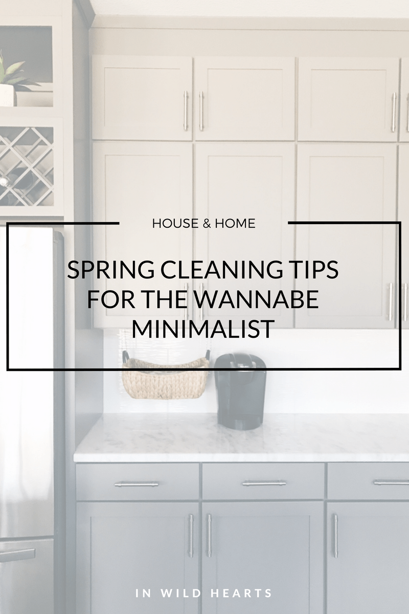 wannabe minimalist spring cleaning tips