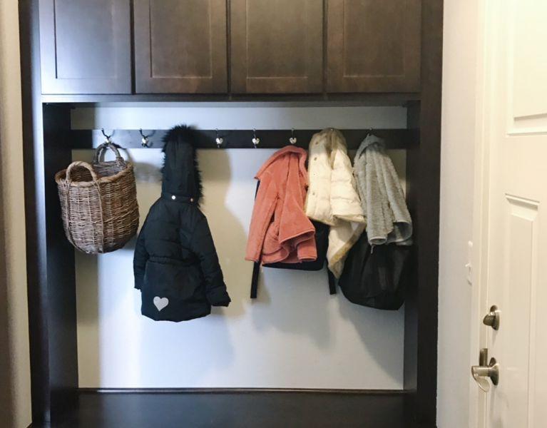 back entry locker organization