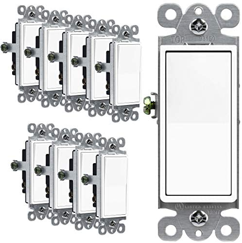 Read more about the article ENERLITES 3-Way Decorator Paddle Rocker Light Switch, Single Pole or Three Way, 3 Wire, Grounding Screw, Residential Grade, 15A 120V/277V, UL Listed, 93150-W-10PCS, White (10 Pack)