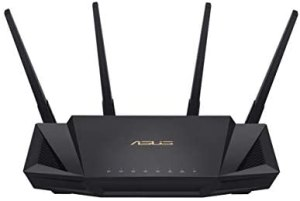 Asus RT-AX58UHome OfficeRouter (Ai Mesh WLAN System, WiFi 6 AX3000, Gigabit LAN, AiProtection, USB 3.0, 160 MHz, VPN, PPTP, OpenVPN)