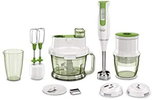 PEPCOOK greenline Stabmixer Set | 1000 W | 4-teiliges Zubehör-Set | Messbecher