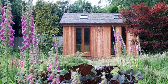 Garden Office With Foxgloves