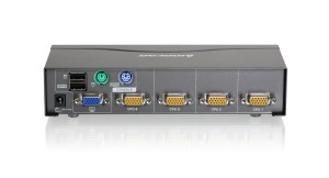 IOGEAR  GCS1724  4 Port VGA KVM Switch, PS2 and USB
