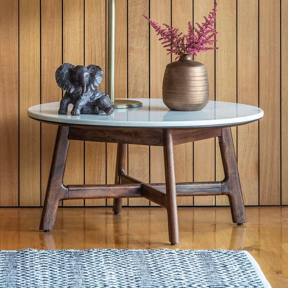 the retro round coffee table