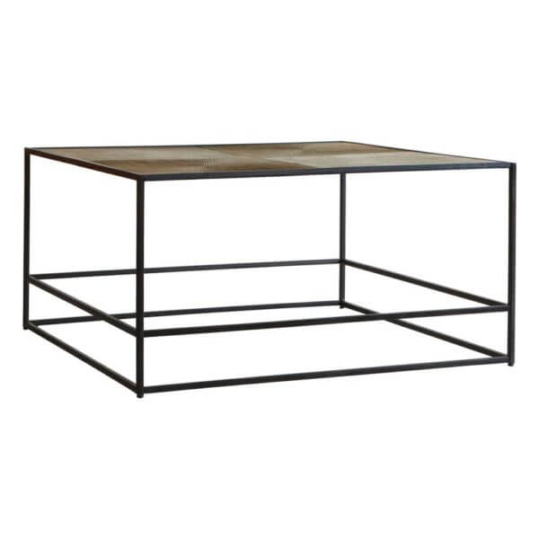 the metal frame coffee table antique gold