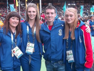 The four athletes representing the Isle of Man at the Commonwealth Games 2014