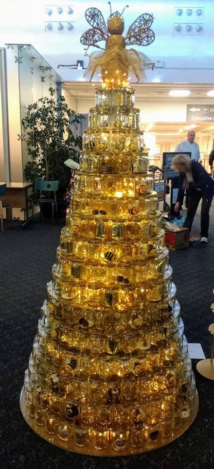"Isle of Man Beekeepers Federation entry in the ""2018 Save the Children"" Festival of Trees at Ronaldsway Airport"