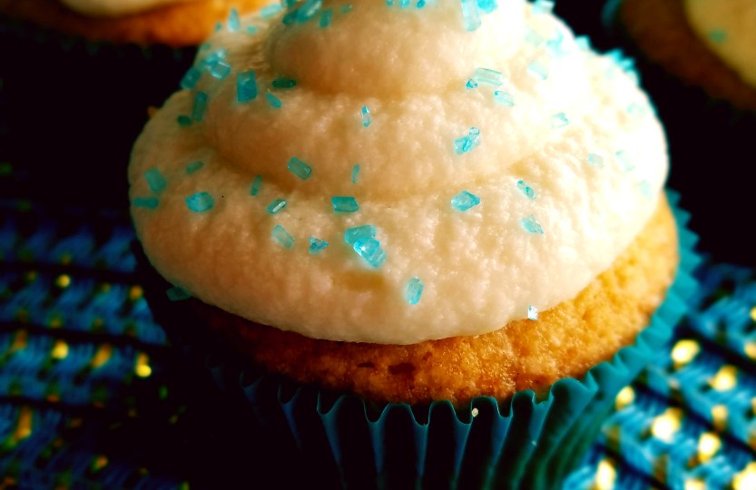 Classic vanilla cupcakes are simple and easy to make for a birthday party, or just yourself.