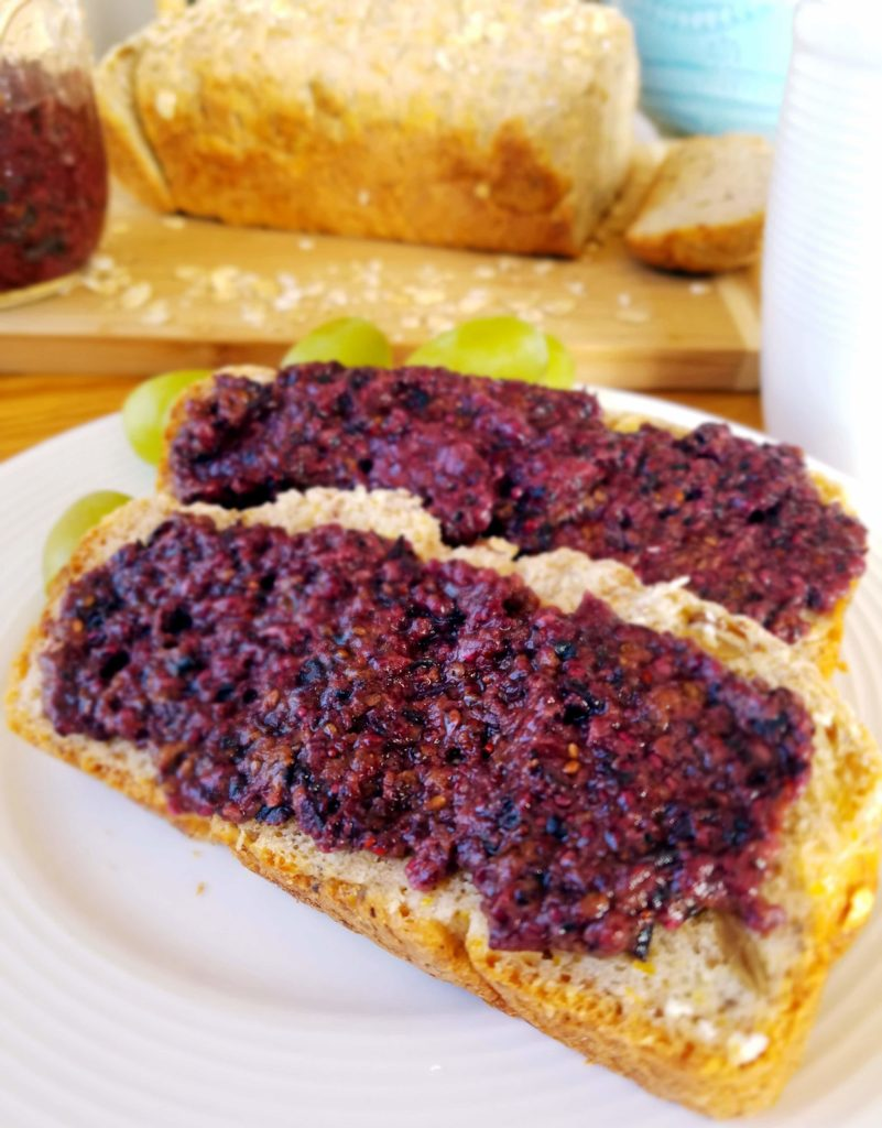 Homemade blueberry chia jam recipe only takes five minutes to make . Healthier, real ingredients to top your favorite slice of bread.