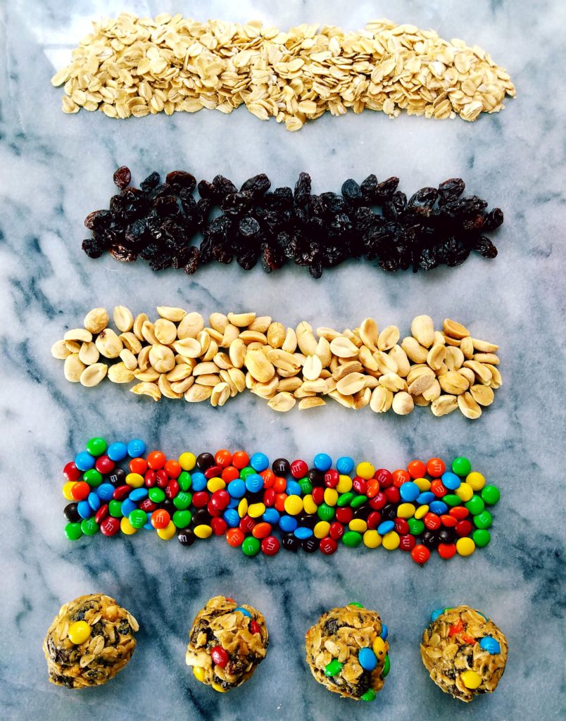 Trail mix energy bites use few ingredients for a healthy snack that's great for a pre or post workout snack.