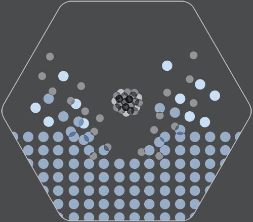 GCIB (gas cluster ion beam) sputtering illustration