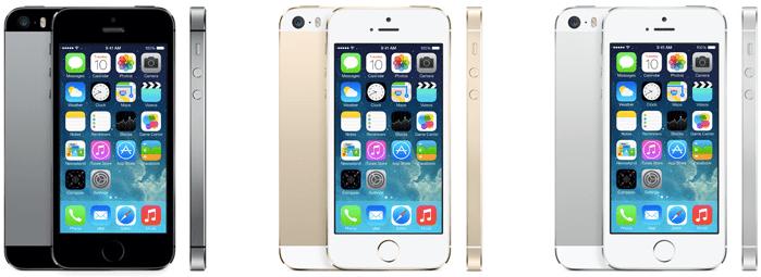 iPhone 5s renkler