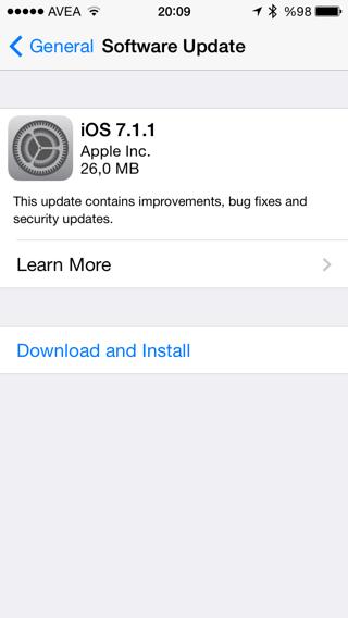 iOS7.1.1