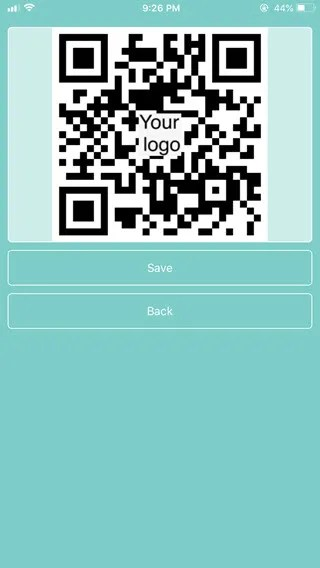 save qr code on iphone using efqrcode free qr code creator
