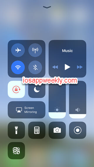 iphone control centre screen recorder