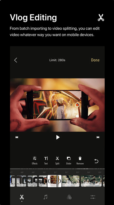 Onetake Vlog Video Editing app for iphone