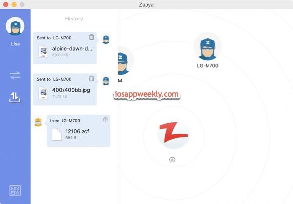 zapya file transfer mac