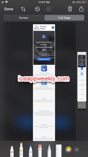 iphone screenshot full page - save web page as pdf safari