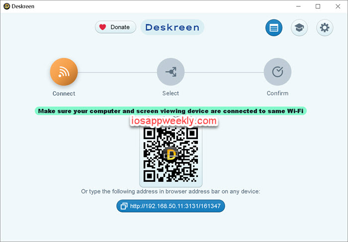 Deskreen for windows connection ip address