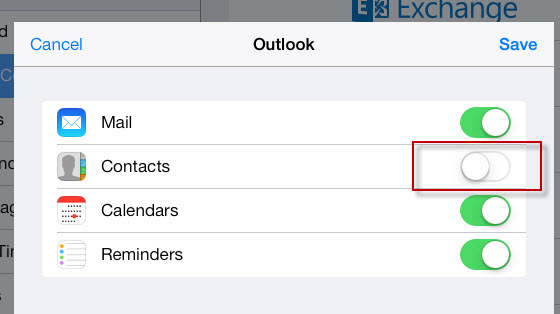 hotmail import options on ipad