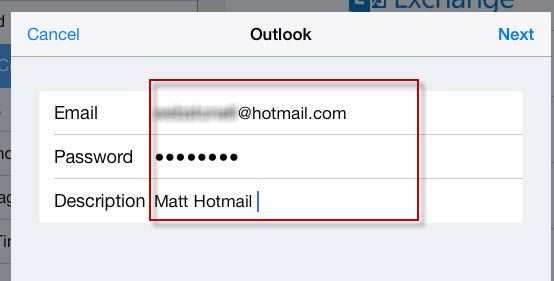 How to recover password for hotmail on ipad