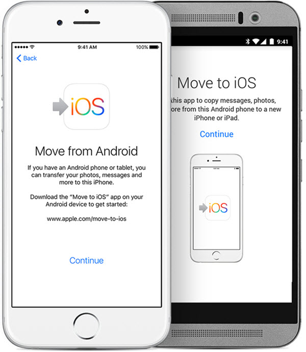 move to ios app for data transfer android to iphone