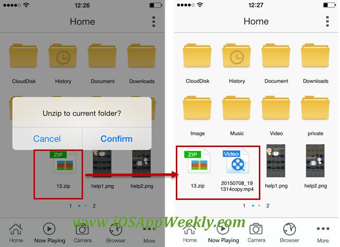 unzip file on iphone - open zip file on iphone