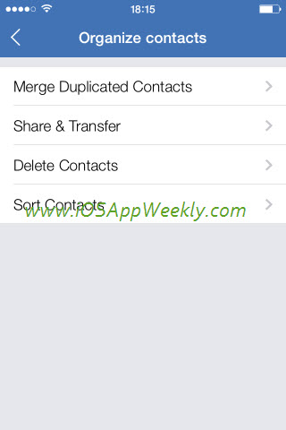wesync app to organize contacts on iphone