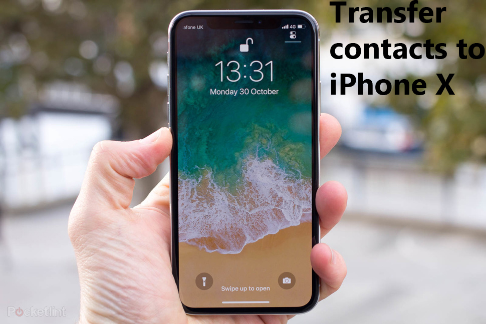contacts to iPhone X