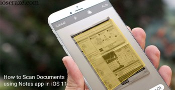 Easy way to scan documents Using iPhone's Notes App on iOS 11