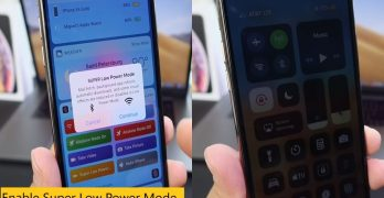 How to enable super low power mode on iOS 12 device – Siri Shortcut