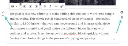 Working with Gutenberg blocks