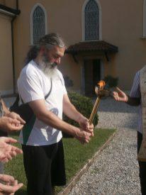 Accensione e benedizione fiamma