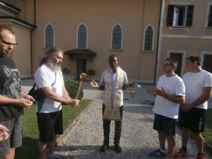 Accensione e benedizione fiamma e tedofori