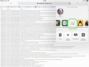 CSV Datei an die App Vizable schicken