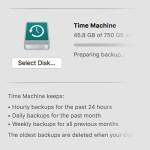 time machine preparing