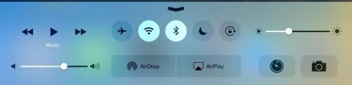 Centro de control iOS 8