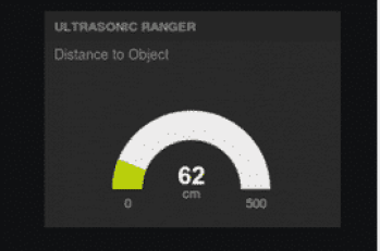 Image of the result displaying the target distance detected by Ranger on NETPIE
