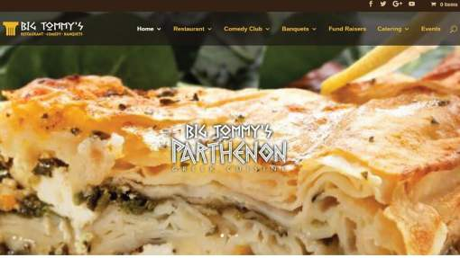 Website Design – Restaurant & Comedy Club