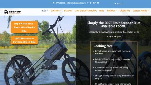 Responsive Design Website – Sports Equipment Exercise Bike