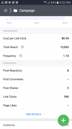 Facebook Ad Real Estate OPEN HOUSE results iOT Marketing Media