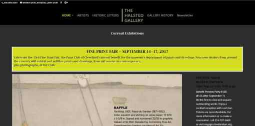 Responsive Design Website – Fine Art Gallery