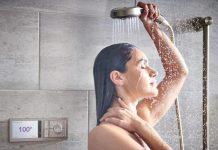 regolare la temperatura della doccia