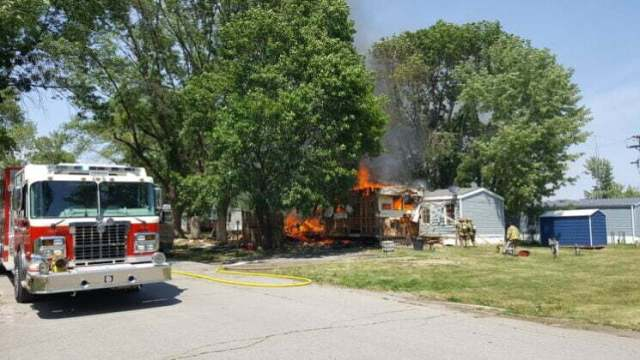 Fire destroys mobile home, damages second in Perry 11