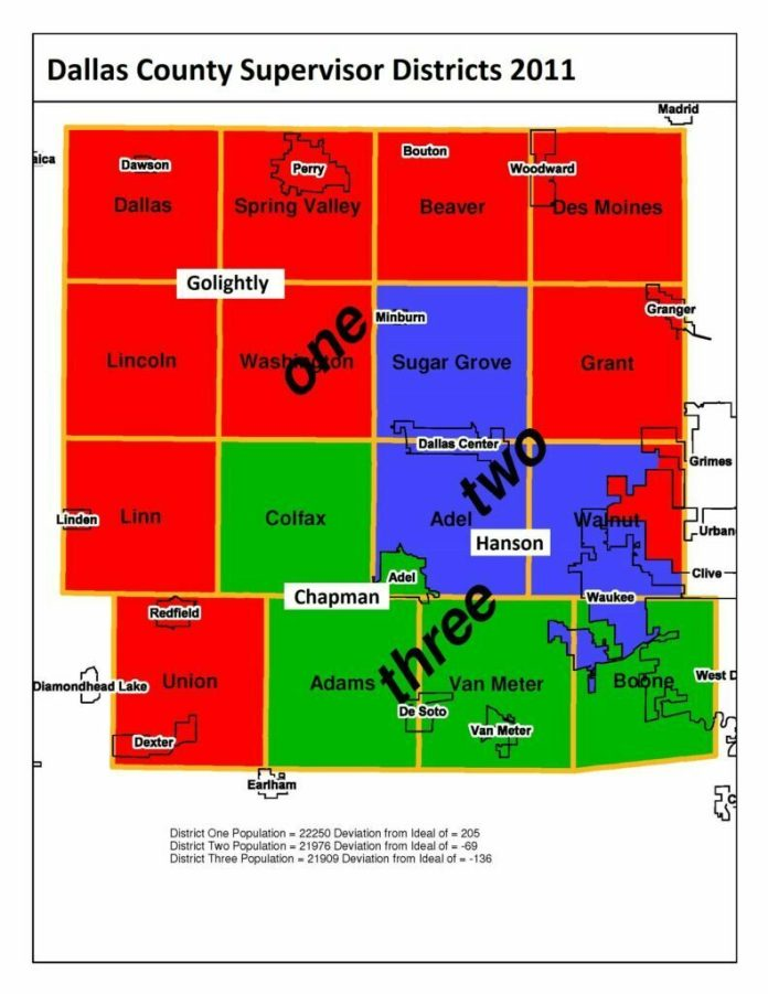 Commission to redraw county supervisors' district lines 1